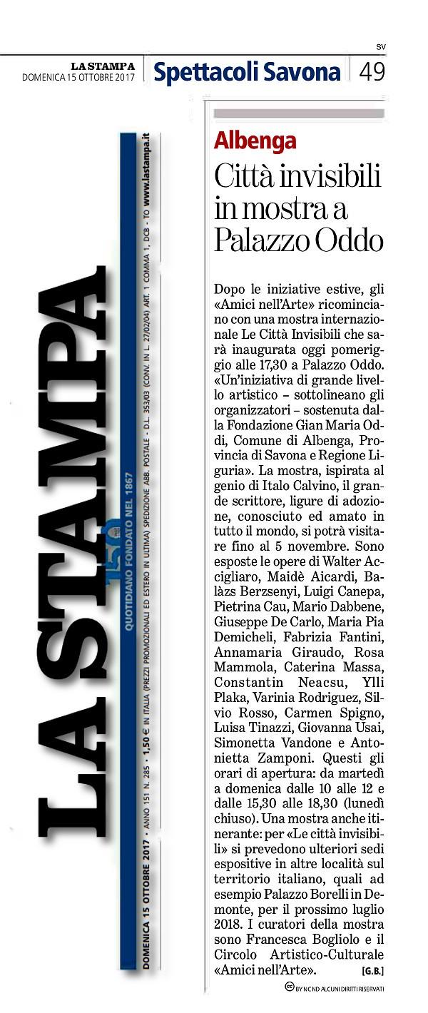 LA STAMPA - 15.10.2017