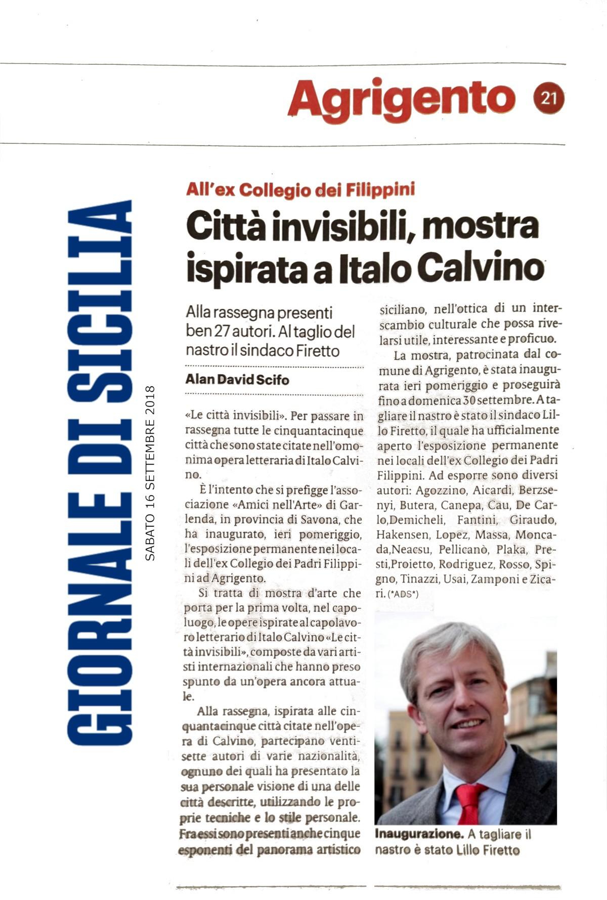 Giornale di Sicilia AG16 settembre 2018