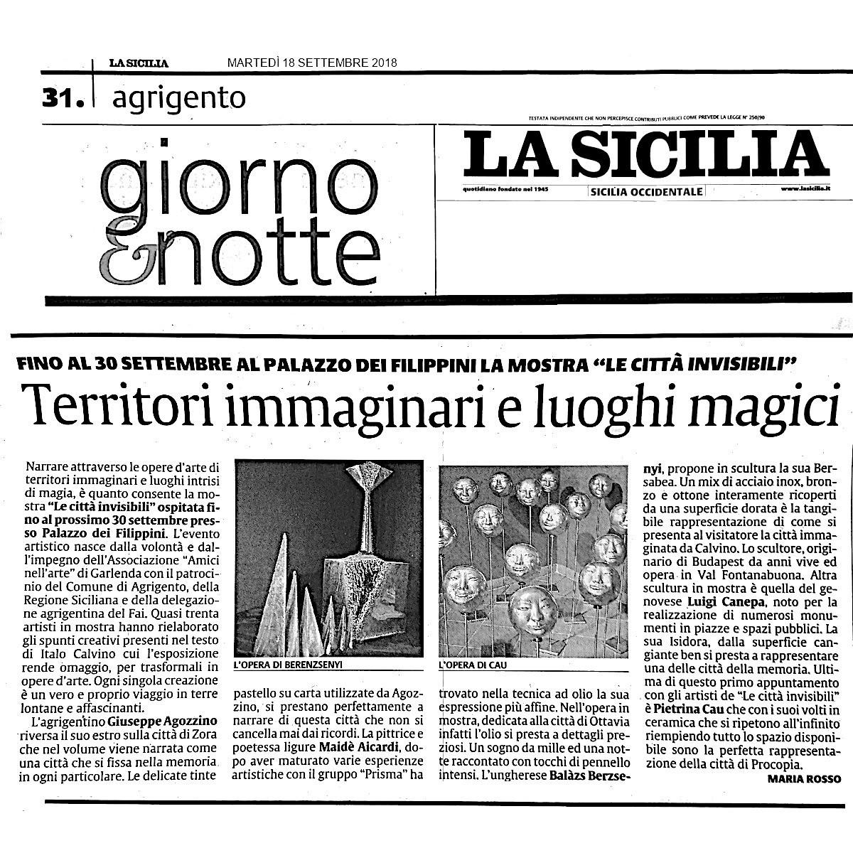 La Sicilia AG18 settembre 2018