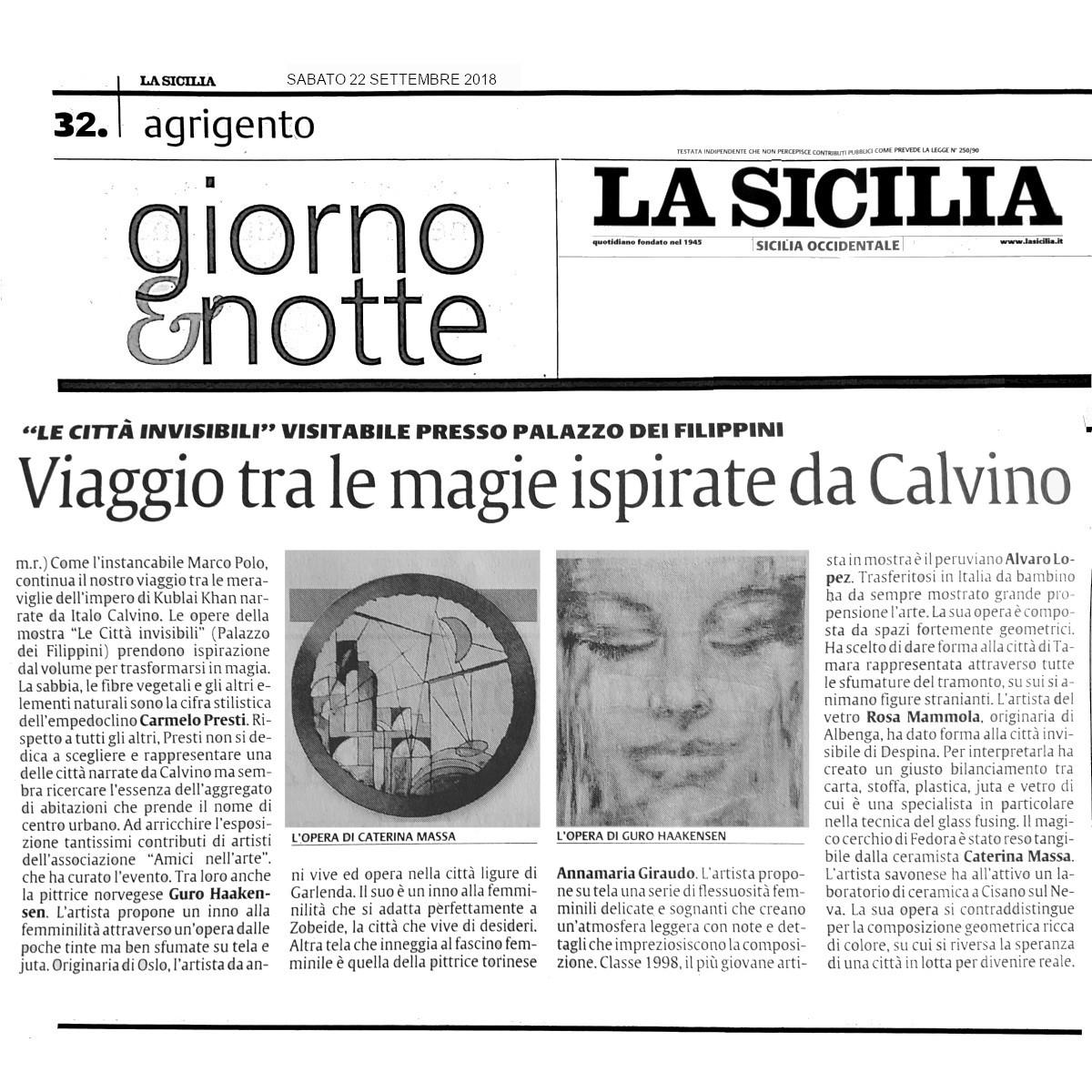 La Sicilia AG22 settembre 2018