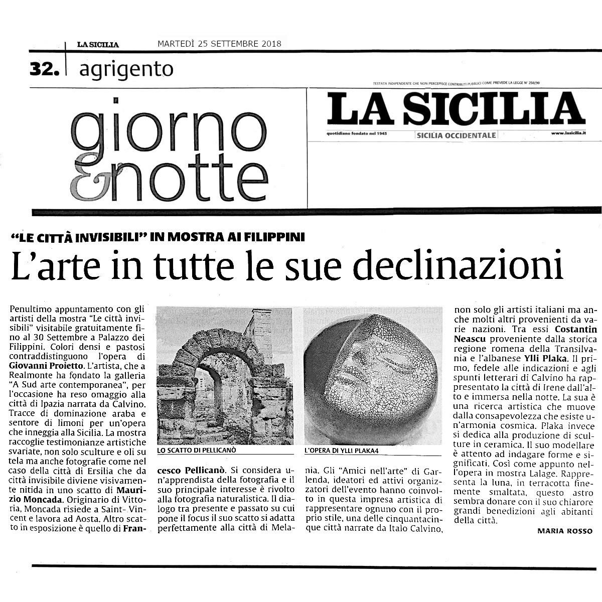 La Sicilia AG25 settembre 2018
