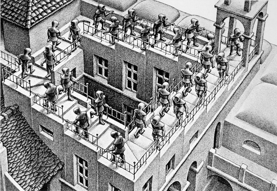 ascending and descending Escher