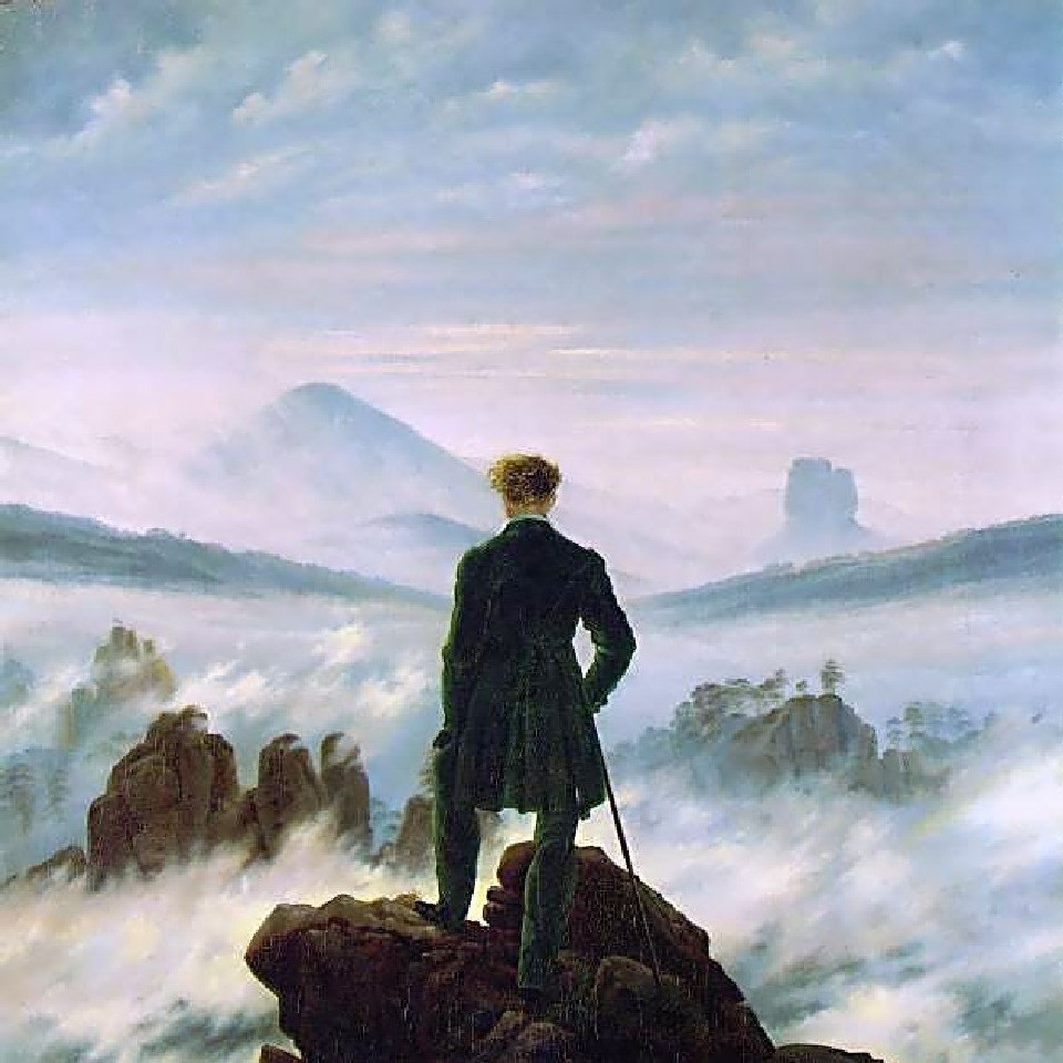 """""""Viandante in un mare di nebbia""""Caspar David Friedrich"""