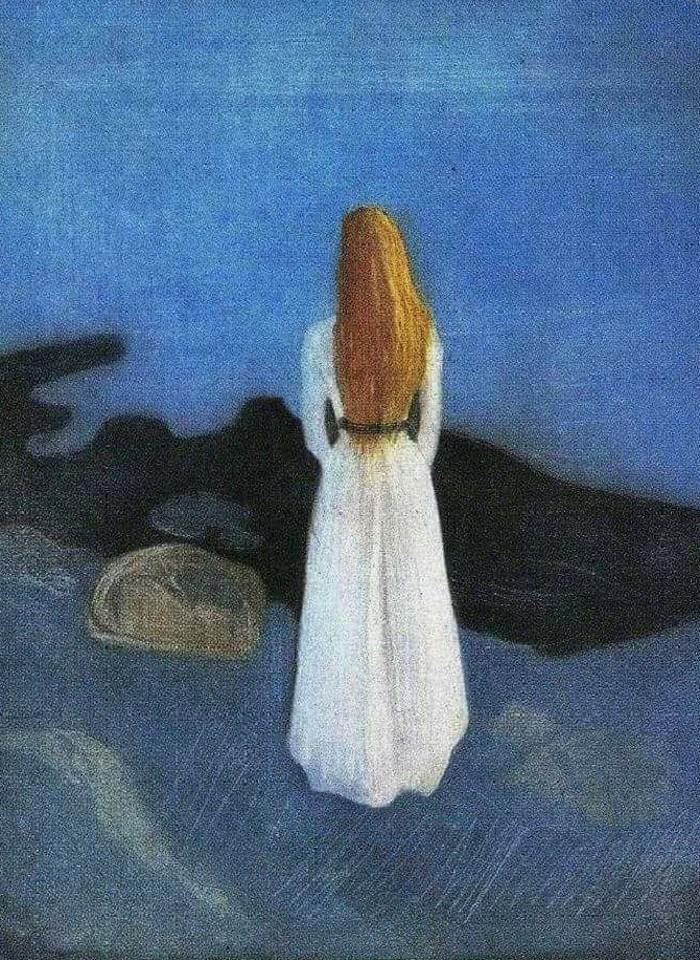 """""""Giovane donna sulla spiaggia"""" Edward Munch"""