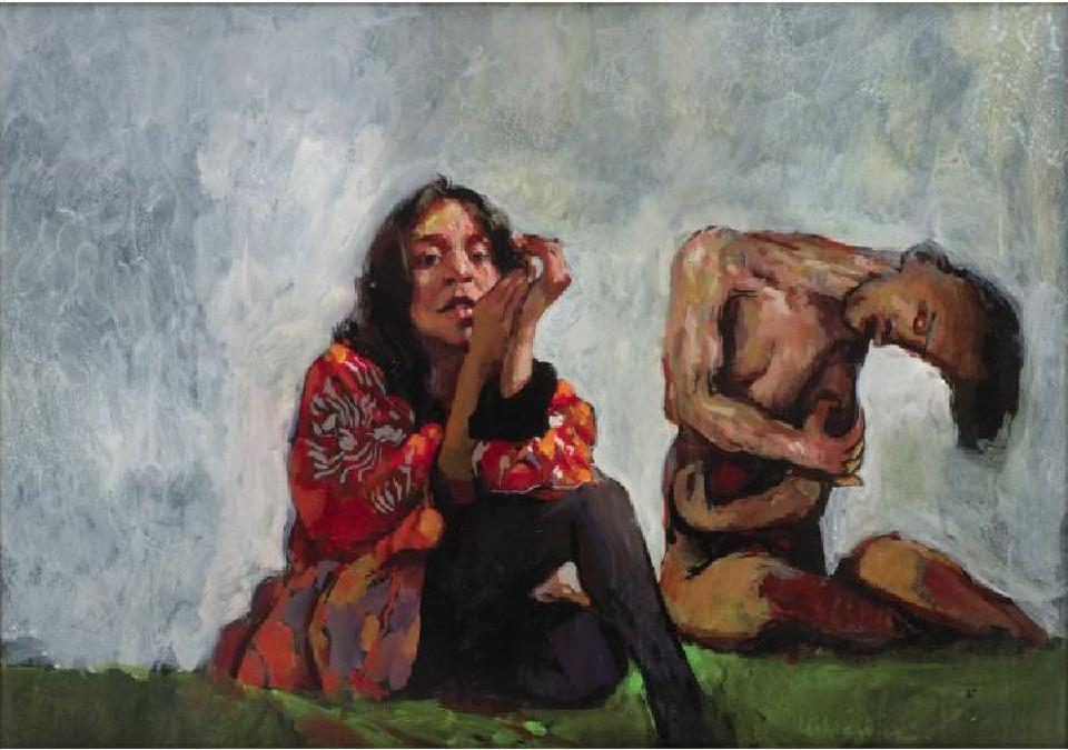 """Woman with_ ealous lover""Robert Lenkiewicz"