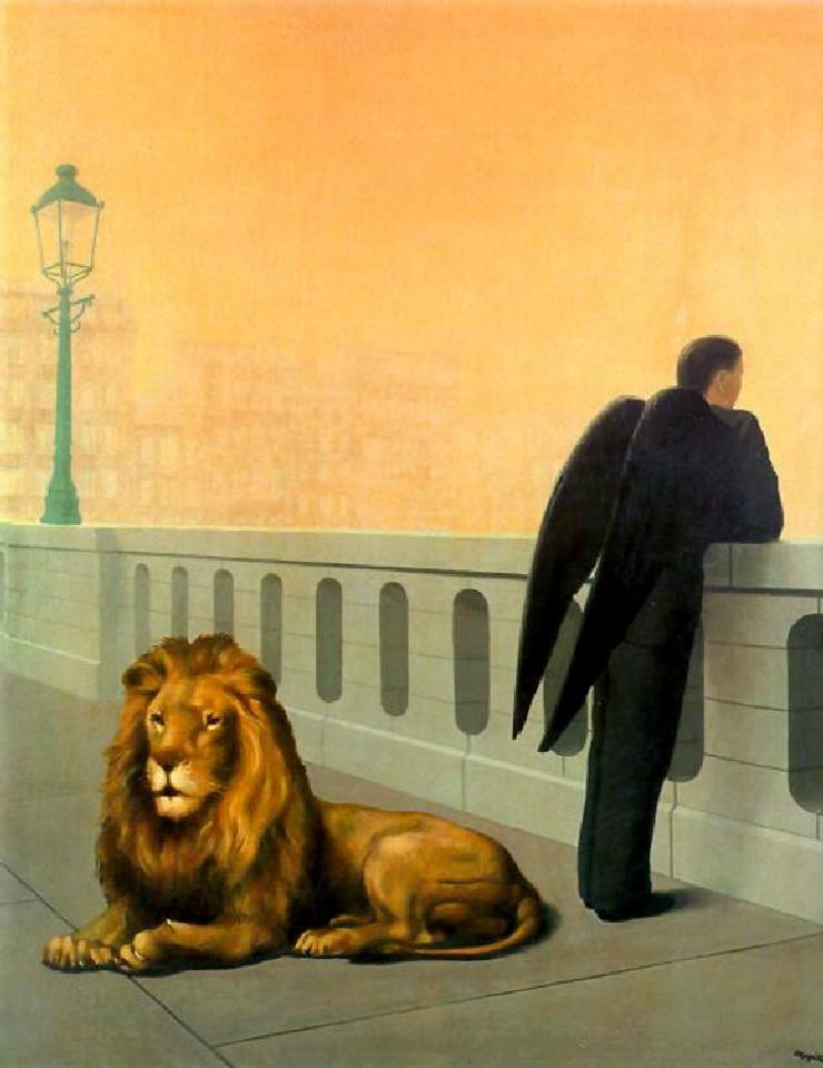 """Home sickness""22 René Magritte"