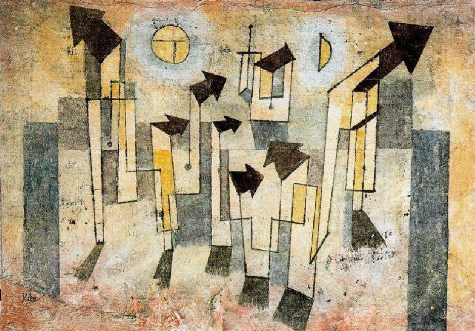 """Wall of the Temple of Nostalgia""Paul-Klee"