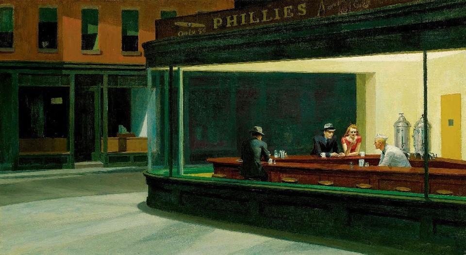 """""""Nighthawks""""Edward Hopper"""