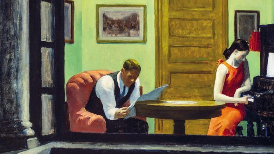 """""""Room in New York""""Edward Hopper"""