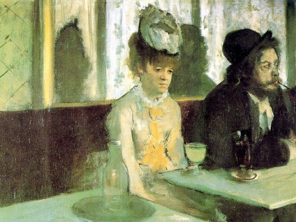 """Absinthe drinkers""Toulouse Lautrec"