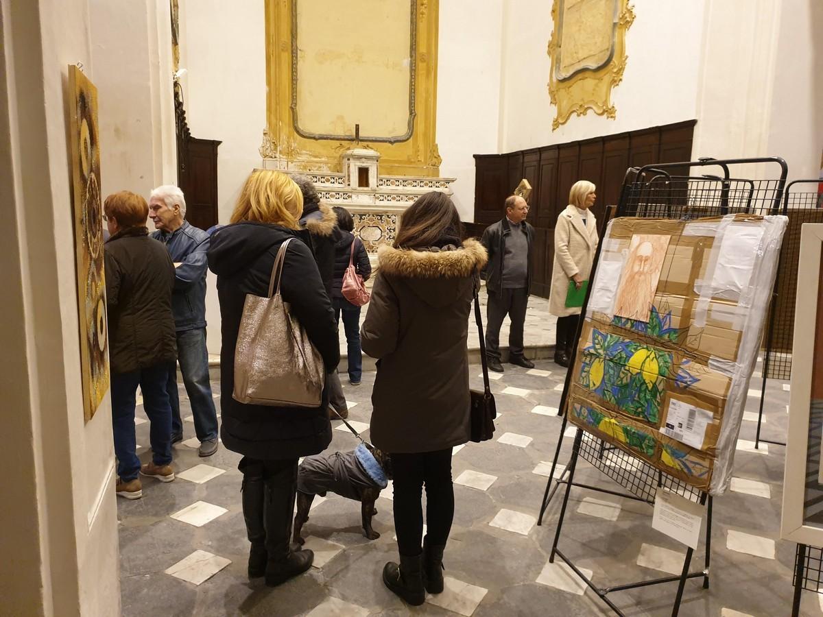 visitatori dell mostra